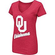 Colosseum Women's Oklahoma Sooners Crimson Dual Blend V-Neck T-Shirt