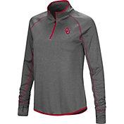 Colosseum Women's Oklahoma Sooners Grey Stingray Quarter-Zip Shirt
