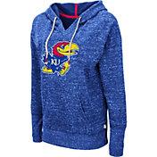 Colosseum Women's Kansas Jayhawks Blue Bradshaw Pullover Hoodie