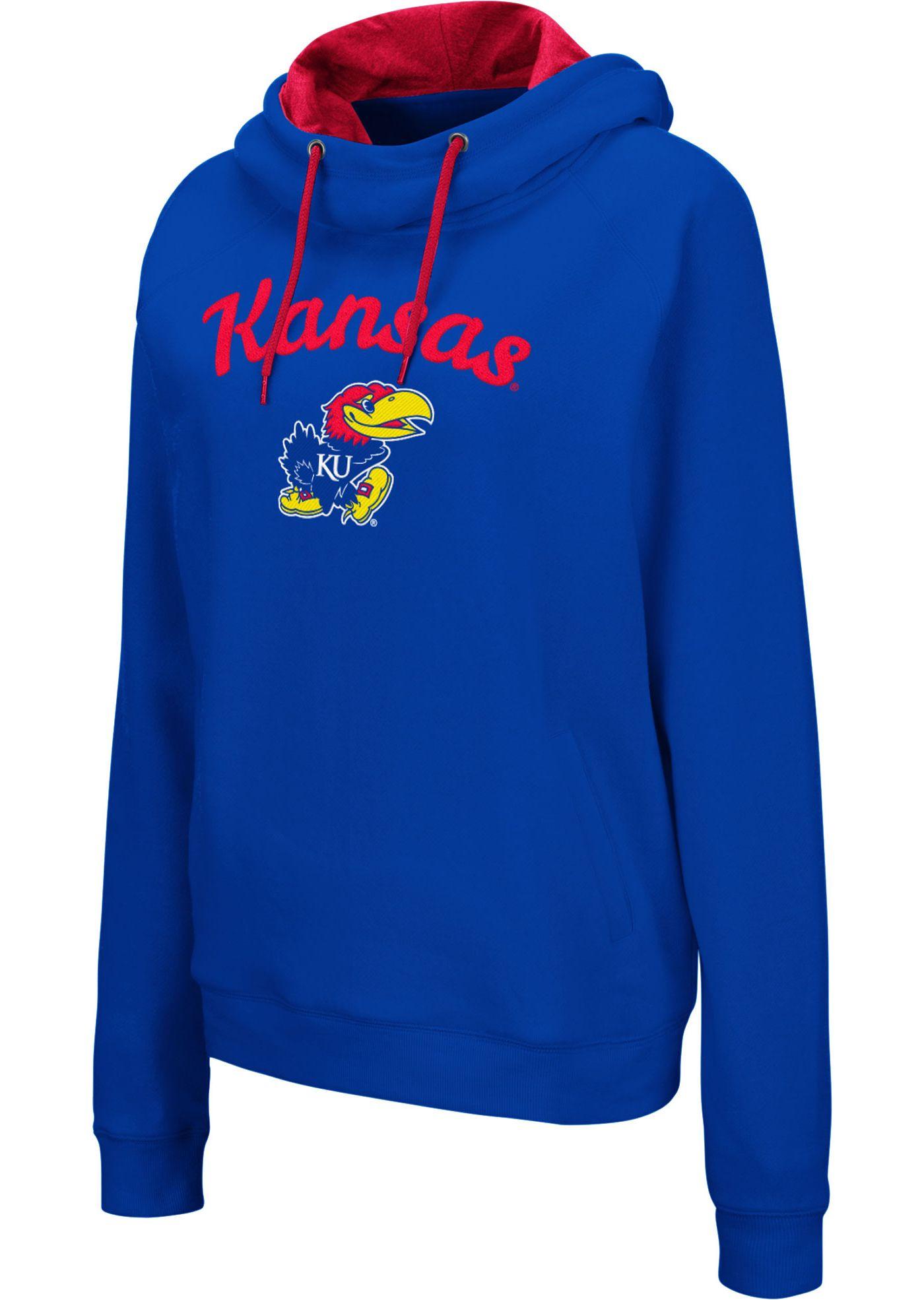 Colosseum Women's Kansas Jayhawks Blue Louise Pullover Sweatshirt