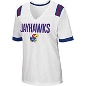 Colosseum Women's Kansas Jayhawks Lowland White T-Shirt
