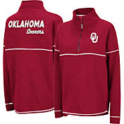 Colosseum Women's Oklahoma Sooners Crimson Horsetail Half-Zip Shirt