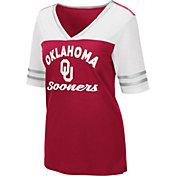 Colosseum Women's Oklahoma Sooners Cream Samantha T-Shirt