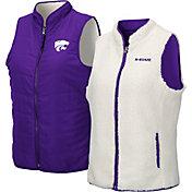 Colosseum Women's Kansas State Wildcats Purple Blatch Reversible Full-Zip Vest