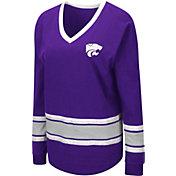 Colosseum Women's Kansas State Wildcats Purple Alrighty Long Sleeve T-Shirt