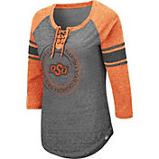Colosseum Women's Oklahoma State Cowboys Grey Carrie Long Sleeve T-Shirt