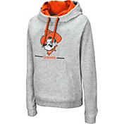 Colosseum Women's Oklahoma State Cowboys Grey Lily Funnel Neck Pullover Hoodie