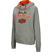 Colosseum Women's Oklahoma State Cowboys Grey Studio Funnel Pullover Hoodie