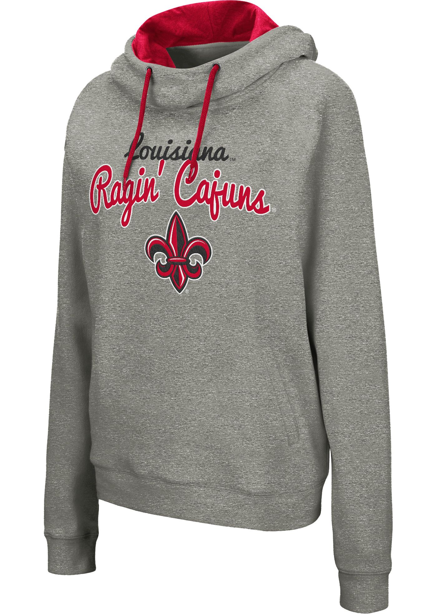 Colosseum Women's Louisiana-Lafayette Ragin' Cajuns Grey Studio Funnel Pullover Hoodie