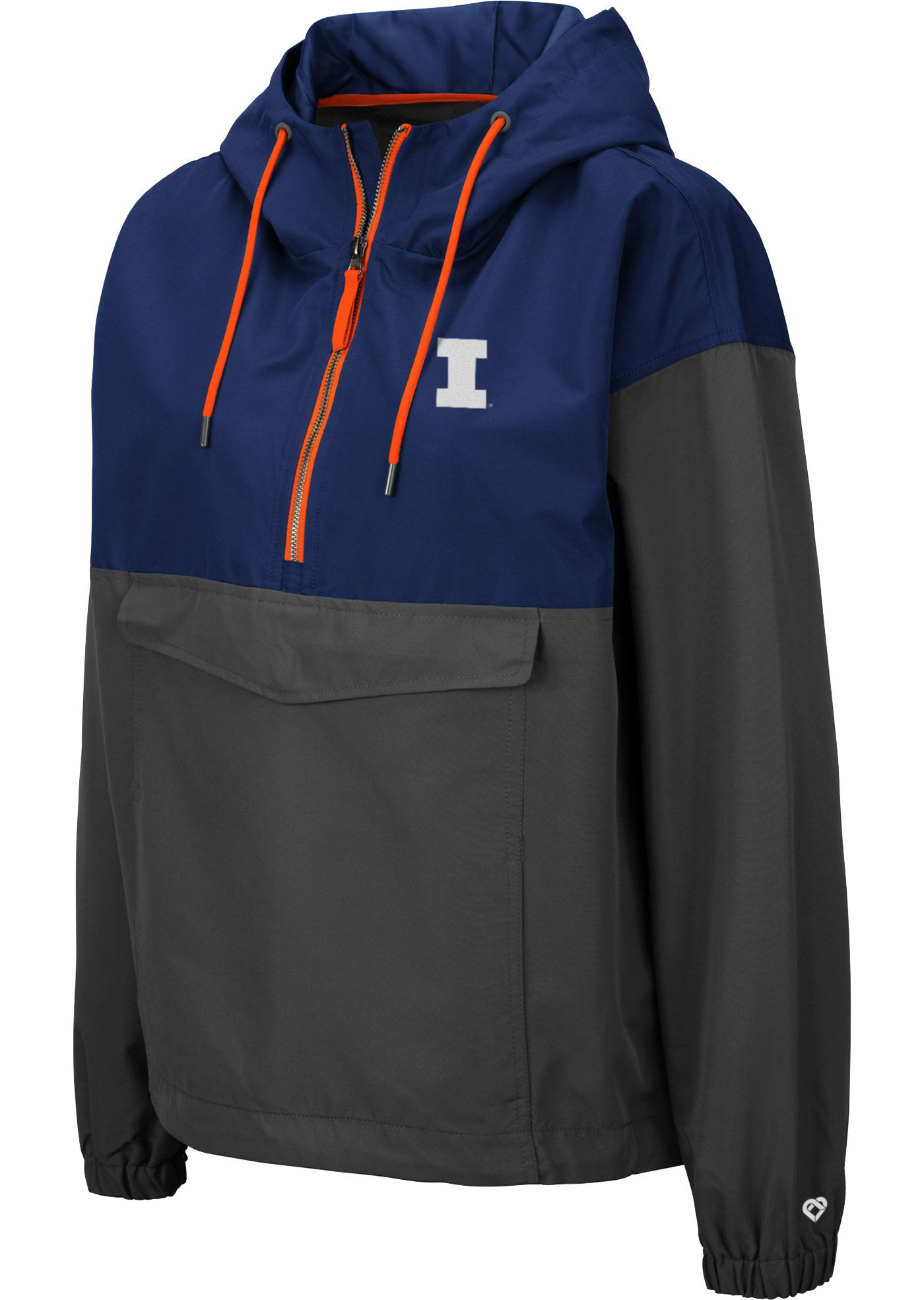 Colosseum Women's Illinois Fighting Illini Blue Dolce Anorak Jacket