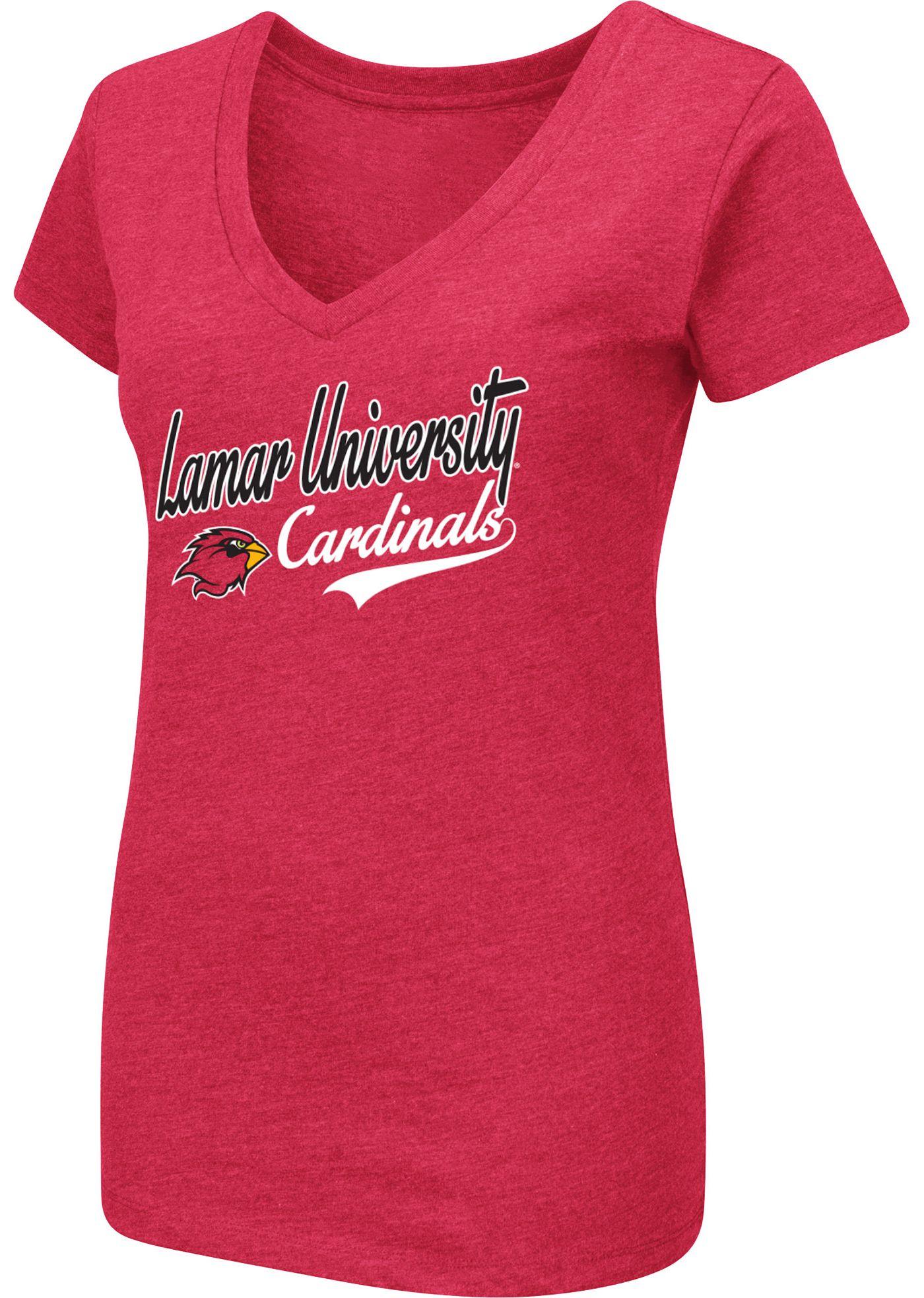 Colosseum Women's Lamar Cardinals Red Dual Blend V-Neck T-Shirt