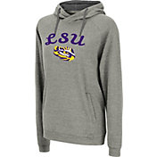 Colosseum Women's LSU Tigers Grey Pullover Hoodie