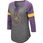 Colosseum Women's LSU Tigers Grey Carrie Long Sleeve T-Shirt