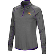 Colosseum Women's LSU Tigers Grey Stingray Quarter-Zip Shirt