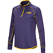 Colosseum Women's LSU Tigers Purple Stingray Quarter-Zip Shirt