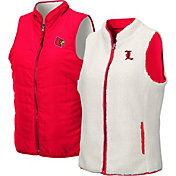 Colosseum Women's Louisville Cardinals Cardinal Red Blatch Reversible Full-Zip Vest