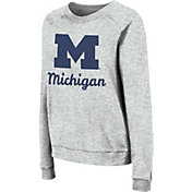 Colosseum Women's Michigan Wolverines Grey Tiger Pullover Sweatshirt