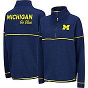 Colosseum Women's Michigan Wolverines Blue Horsetail Half-Zip Shirt