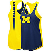 Colosseum Women's Michigan Wolverines Blue/Maize Publicist Tank Top