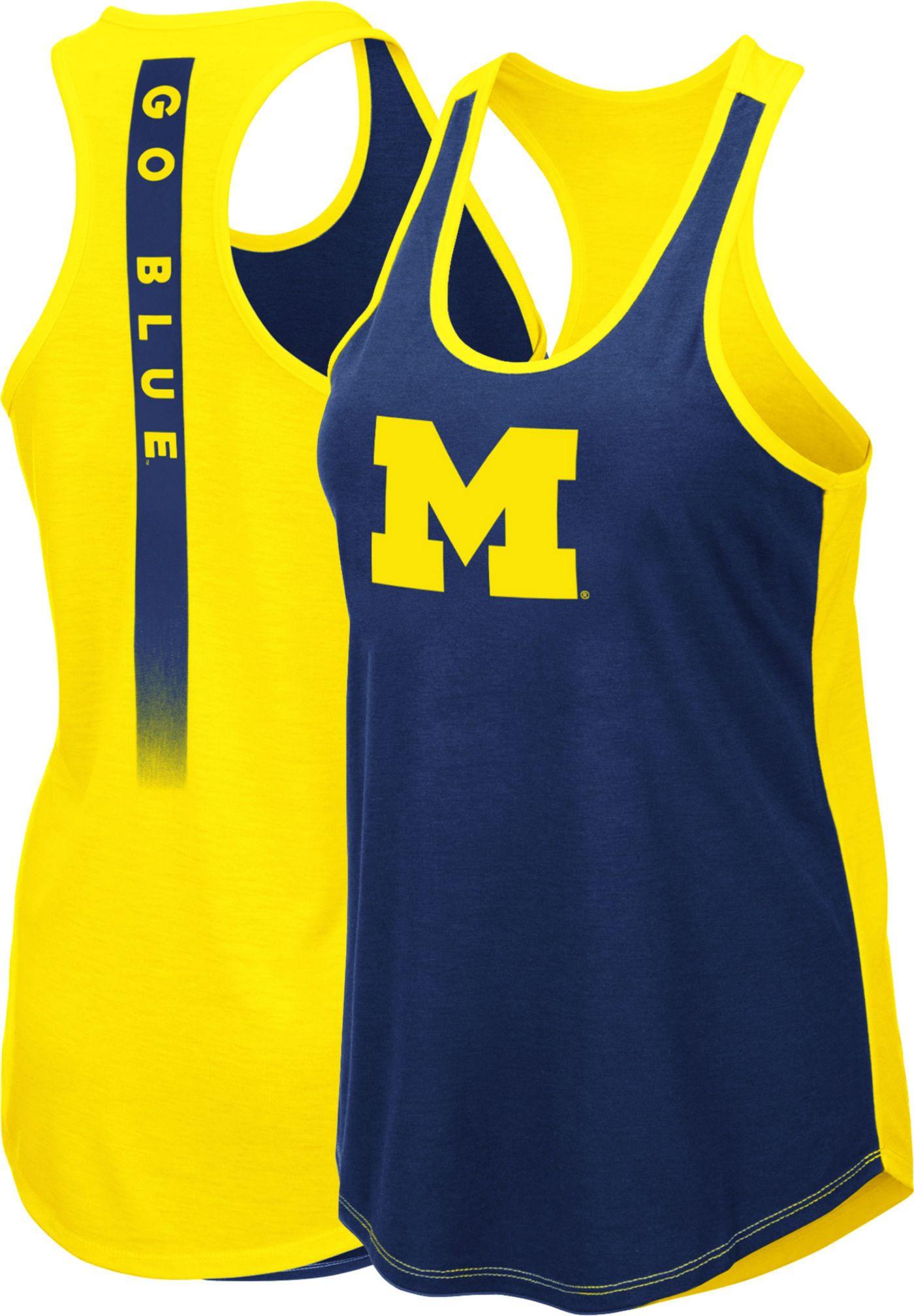 Colosseum Women's Michigan Wolverines Blue/Maize Publicist Tank Top