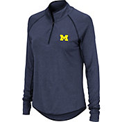 Colosseum Women's Michigan Wolverines Blue Quarter-Zip Shirt