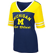 Colosseum Women's Michigan Wolverines Blue Samantha T-Shirt