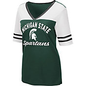 Colosseum Women's Michigan State Spartans Green Samantha T-Shirt