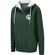 Colosseum Women's Michigan State Spartans Green Full-Zip Hoodie