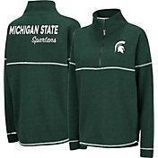 Colosseum Women's Michigan State Spartans Green Horsetail Half-Zip Shirt