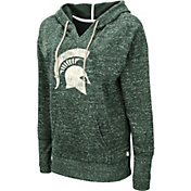 Colosseum Women's Michigan State Spartans Green Bradshaw Pullover Hoodie