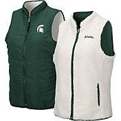 Colosseum Women's Michigan State Spartans Green Blatch Reversible Full-Zip Vest