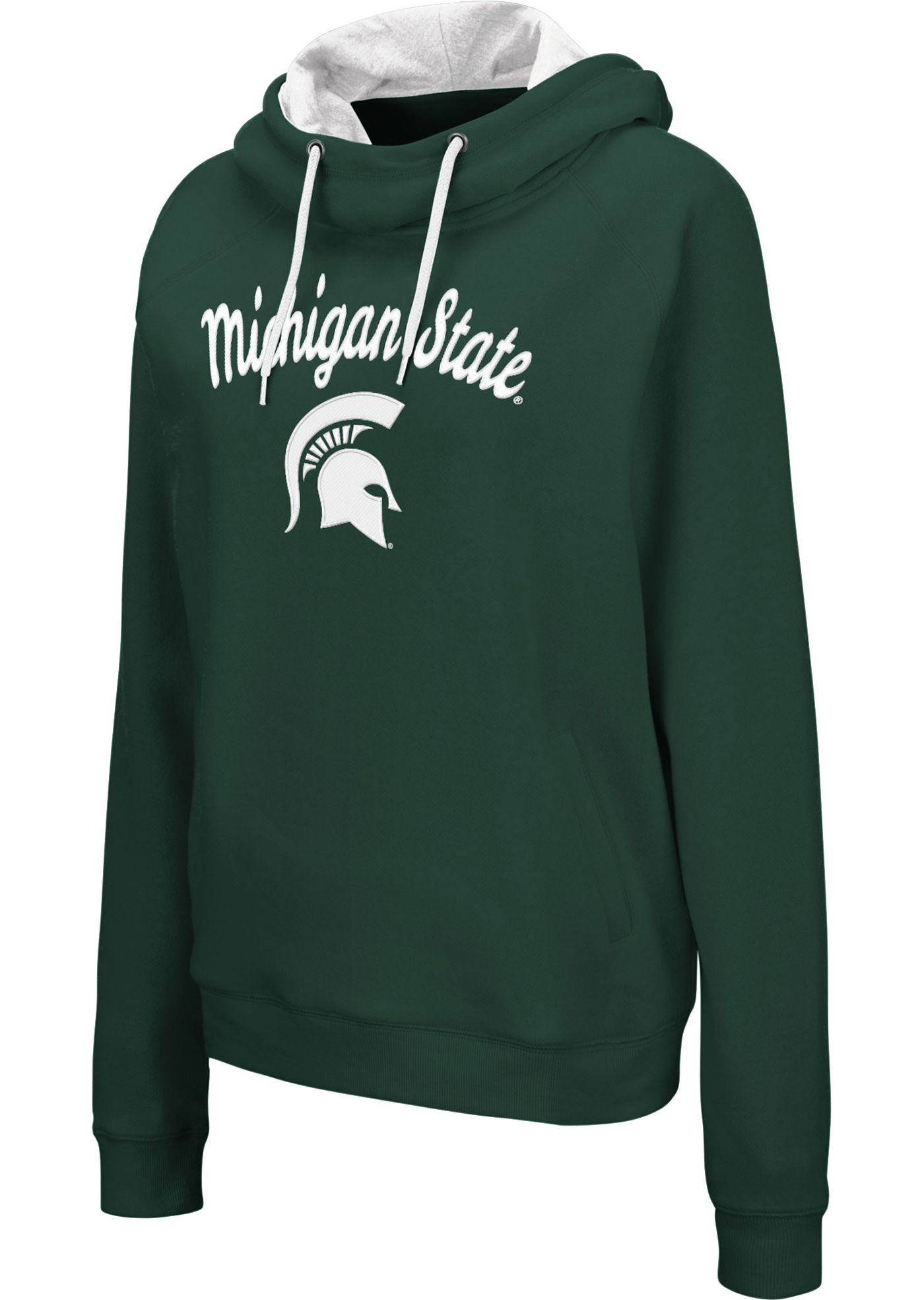 Colosseum Women's Michigan State Spartans Green Louise Pullover Sweatshirt