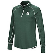 Colosseum Women's Michigan State Spartans Green Stingray Quarter-Zip Shirt