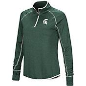 Colosseum Women's Michigan State Spartans Green Stingray Quarter-Zip Pullover Shirt
