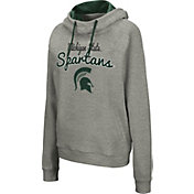 Colosseum Women's Michigan State Spartans Grey Studio Funnel Pullover Hoodie