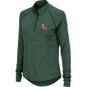 Colosseum Women's Miami Hurricanes Green Quarter-Zip Shirt