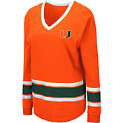 Colosseum Women's Miami Hurricanes Orange Alrighty Long Sleeve T-Shirt