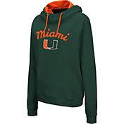 Colosseum Women's Miami Hurricanes Green Louise Pullover Sweatshirt