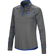 Colosseum Women's Memphis Tigers Grey Stingray Quarter-Zip Shirt