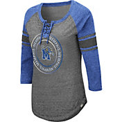 Colosseum Women's Memphis Tigers Grey Carrie Long Sleeve T-Shirt