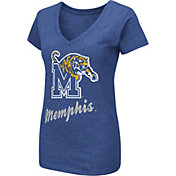 Colosseum Women's Memphis Tigers Blue Dual Blend V-Neck T-Shirt