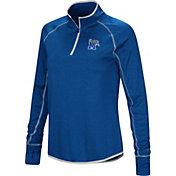 Colosseum Women's Memphis Tigers Blue Stingray Quarter-Zip Shirt
