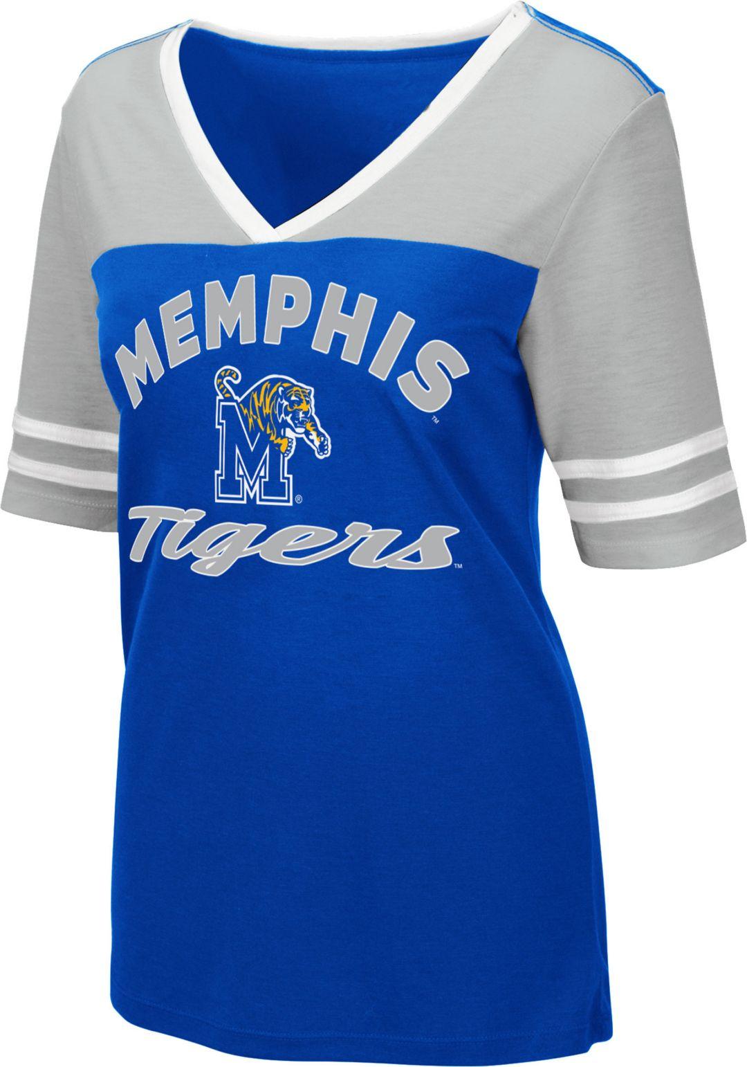 info for fb02b 8334f Colosseum Women's Memphis Tigers Blue Samantha T-Shirt