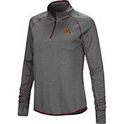 Colosseum Women's Minnesota Golden Gophers Grey Stingray Quarter-Zip Shirt