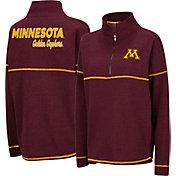 Colosseum Women's Minnesota Golden Gophers Maroon Horsetail Half-Zip Shirt