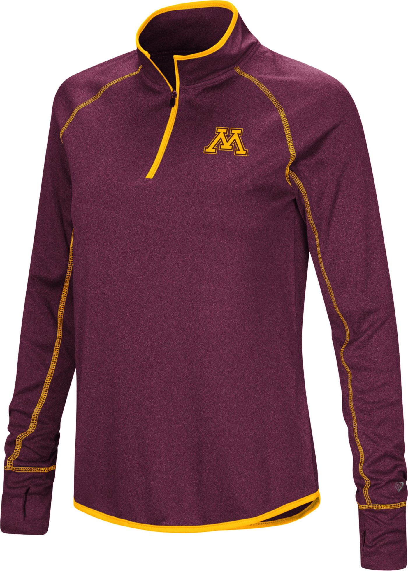 Colosseum Women's Minnesota Golden Gophers Maroon Stingray Quarter-Zip Shirt