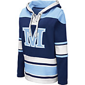 Colosseum Women's Maine Black Bears Navy Choo Hockey Pullover Hoodie