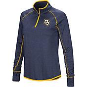 Colosseum Women's Marquette Golden Eagles Blue Stingray Quarter-Zip Shirt