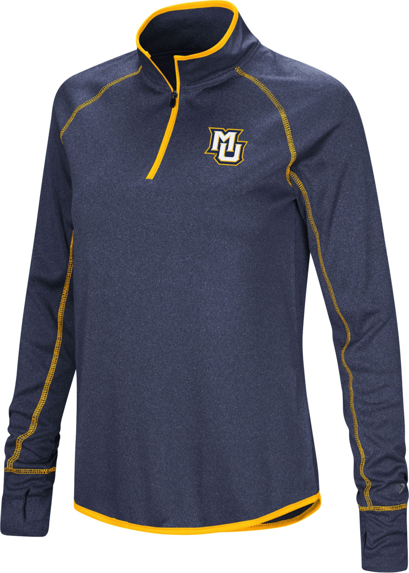Colosseum Women's Marquette Golden Eagles Blue Stingray Quarter-Zip Shirt