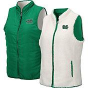 Colosseum Women's Marshall Thundering Herd Green Blatch Reversible Full-Zip Vest